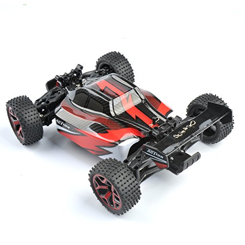 GizmoVine RC Car 4WD High Speed 1:18 Scale, 2.4Ghz Remote control Electric Racing sand Buggy, Vehicle with Rechargeable Battery (Rc Police Car With Camera)