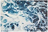 Blue Ocean Waves Print on Canvas, 60'' x 40''