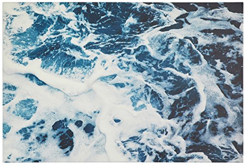Blue Ocean Waves Print on Canvas, 60'' x 40'' by Rivet