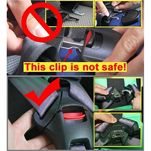 51dIk6rZmbL - Universal Baby Car Seat 5pt 5 Point Safety Harness With Locking Buckle Adjustable Straps