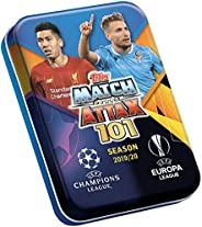2019-20 Topps Match Attax 101 Champions League Cards - Mini Tin (45 Cards + One LE Messi Gold, Silver or Bronz