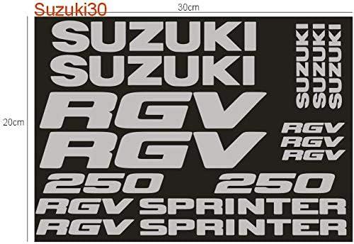 SUPERSTICKI Suzuki RGV 250 Sprinter Sponsorset ca 30cm Motorrad Bike Motorcycle Aufkleber Bike Auto Racing Tuning aus Hochleistungsfolie Aufkleber Autoaufkleber Tuningaufkleber Hochleistung