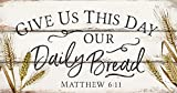 Cheap P. GRAHAM DUNN Give Us This Day Our Daily Bread Wheat White 20 x 10.5 Wood Pallet Wall Plaque Sign
