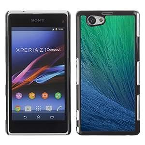 Be Good Phone Accessory // Dura Cáscara cubierta Protectora Caso Carcasa Funda de Protección para Sony Xperia Z1 Compact D5503 // Ocean Surfing Wave Sun Summer Blue