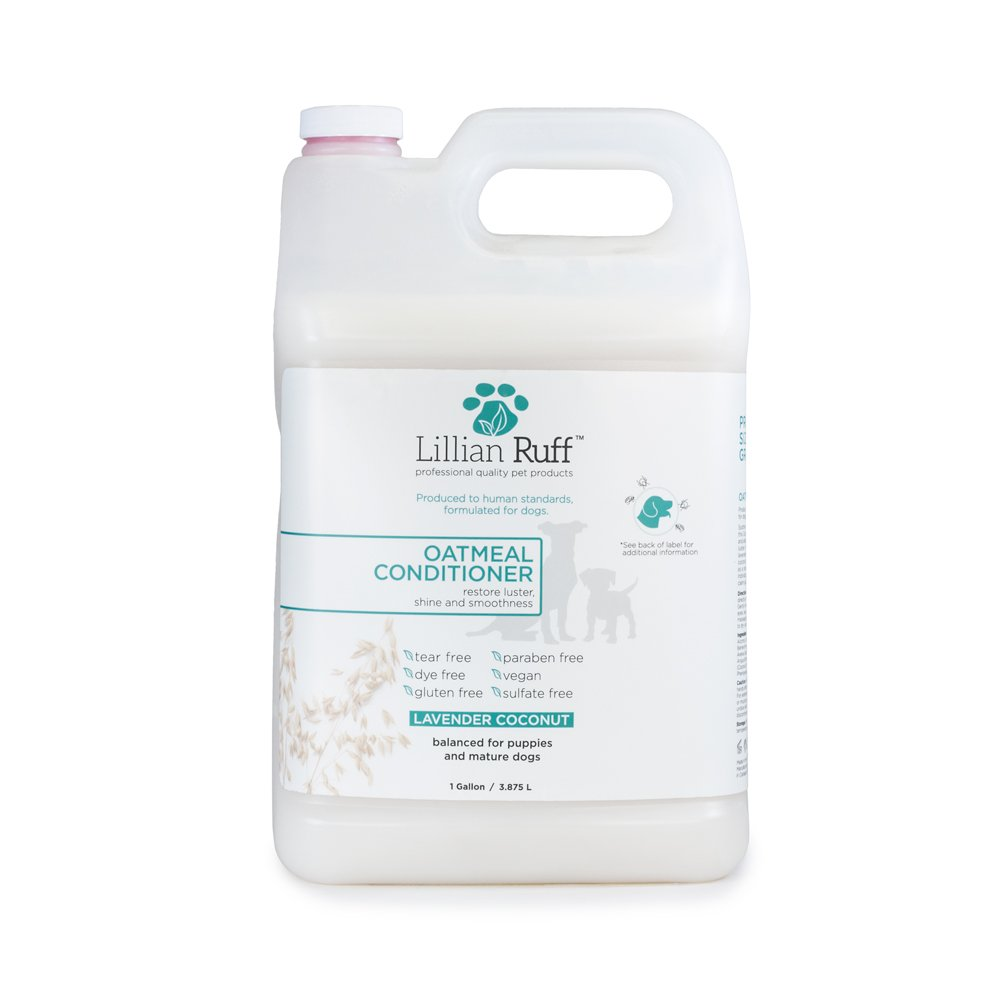Lillian Ruff Dog Oatmeal Conditioner - Lavender Coconut Scent for Itchy Dry Skin with Aloe - Soothe Skin Irritation and Relieve itching