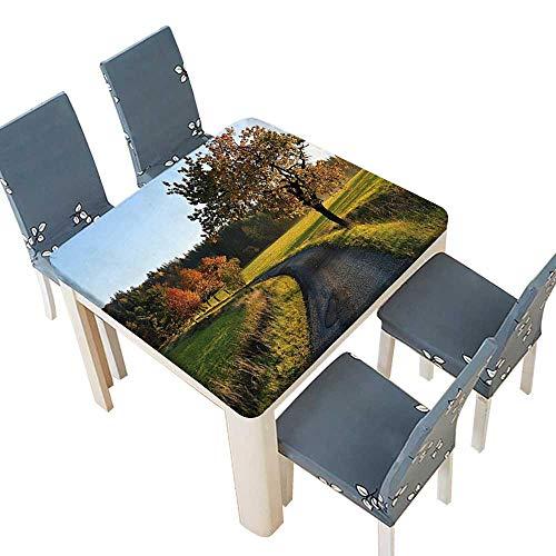 PINAFORE Spring & Summer Outdoor Tablecloth, Road at