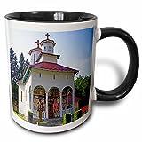 3dRose VWPics Romania - Dormition of the Virgin Romanian Orthodox Church, Sovata, Mures County, Transylvania, Romania - 11oz Two-Tone Black Mug (mug_46276_4)