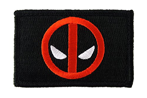 Deadpool Funny Tactical Hook and Loop Fully Embroidered Morale Tags Patch (Black and (Deadpool Cosplay Buy)