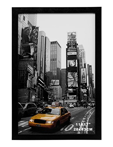 MeiC Wall Mounting Picture Photo Frames 11x17 Inch for Home Decoration Black