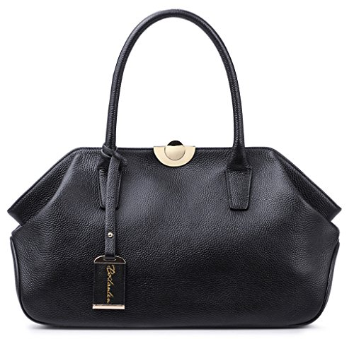 Designer Leather Black Shoulder Handbags: Amazon.com