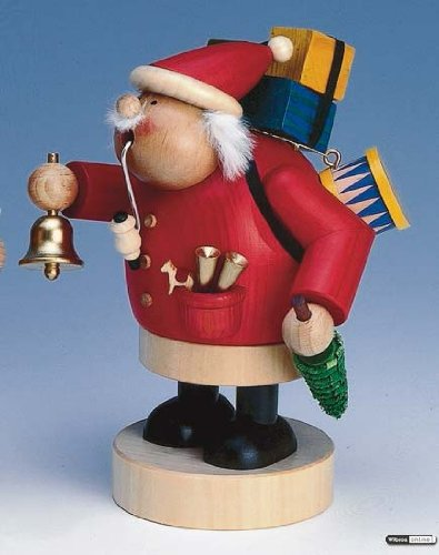 German Incense Smoker Santa Claus - 18 cm / 7 inch - Authentic German Erzgebirge Smokers - KWO by Authentic German Erzgebirge Handcraft