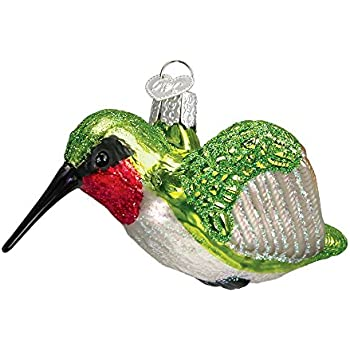 Old World Christmas Bird Watcher Collection Glass Blown Ornaments for Christmas Tree Hummingbird