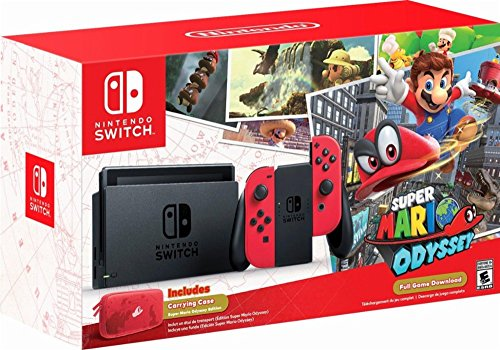 Nintendo - Switch 32GB Super Mario Odyssey Edition Bundle - Red Joy-Con