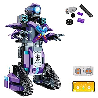 STEM Building Block Toy RC Robot for Kids, aukfa App Controlled & Remote Control Robotic Toy for Boys and Girls, Engineering Educational Build Kit,  Early Learning Birthday Gift for 8 Years and Up