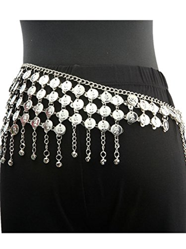 Harem Belt Coin (Lndian Dance Tribal Belly Dance Hip Scarf Wrap Belt Coins Bells Costume Belly)