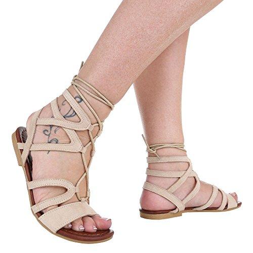Ital Beige Sandalias Design Mujer Sandalias beige I4zIrqx
