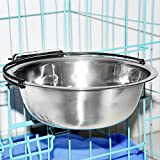 Hanging Pet Bowls,MLCINI Stainless Steel Fit Water and Feed Bowl for Dogs Cats Rabbits in Cage Kennel