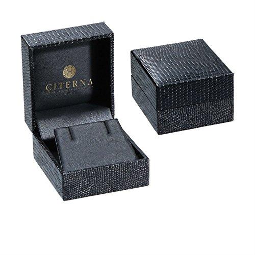 Citerna - PE01805W/GT - Boucles d'oreilles pendantes Femme - Or Blanc 9 cts 1 Gr - Grenat