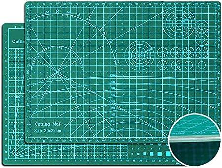 Ommda Base de Corte autocicatrizante Doble Cara Centímetros y Pulgadas Antideslizante 5 alayer Cutting Mat Alfombrillas de Corte Patchwork Scrapbooking Espesor de 3 mm 60x120cm Verde: Amazon.es: Hogar