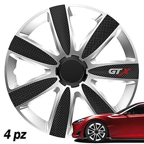 Tapacubos universales de 15 d-gear GTX Carbon Plata
