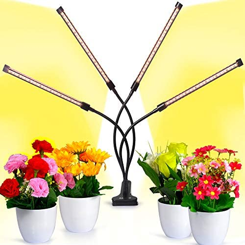 Grow Light,50W Sunlike Full Spectrum Grow Lamp, Dual Head Gooseneck Plant Light, Double Switch for Indoor Grow Light,Professional for Seedling Growing Blooming Fruiting