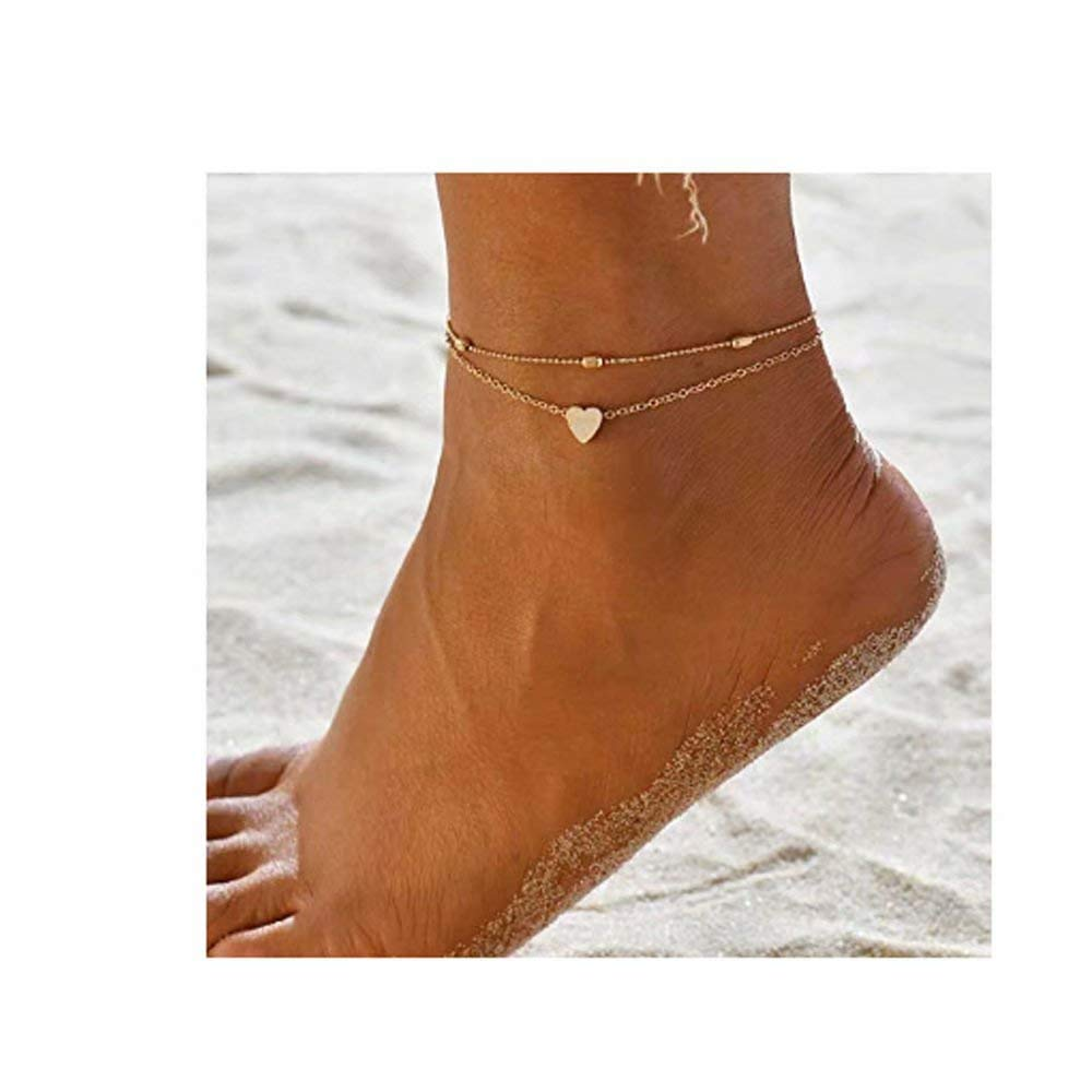 Artmiss Layered Anklets...