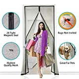 APALUS New Fiberglass Magnetic Screen Door, 36''x83'', Super Strong Fly Mesh, 28 Magnets from Top to Bottom Ultra Seal Magnets Close Automatically