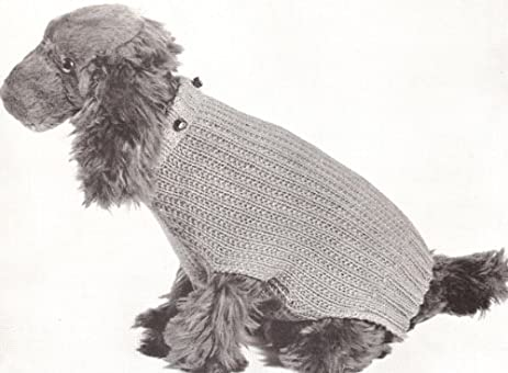 Amazon Vintage Knitting Pattern To Make Knitted Dog Sweater