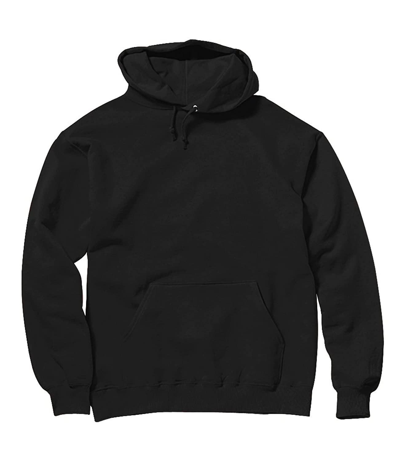 Plain Black heavyweight Pullover Hoodie Blank Hooded Sweatshirt ...