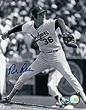 Rick Rhoden Signed 8X10 Photo Autograph Los Angeles Dodgers B/W Pitch Auto COA
