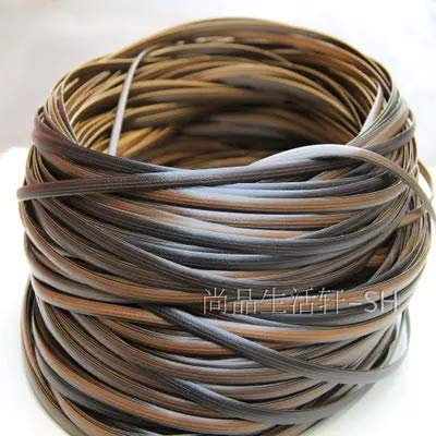 500g Coffee gradient flat synthetic rattan weaving material plastic rattan for knit and repair chair table synthetic rattan - (Color: 1) (Repairs Wicker Supplies)