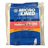 central filter - Nutone 391 Replacement Bags for Central Vac, Set of 3 Six Gallon Bags