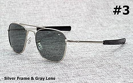Aprigy Fashion Army Military AO Pilot - Gafas de sol de cristal óptico americano de 54 mm, 3