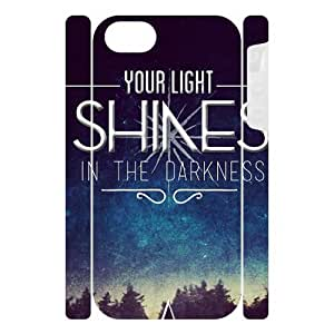 """Canting_Good """"Stars Can't Shine Without Darkness"""" Custom Dual-Protective 3D Polymer Case Shell Cover for IPhone 5"""