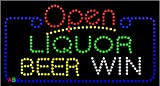 """17""""x31"""" Animated Liquor Beer Wine Open LED w/Flashing Controller offers"""