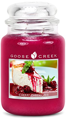 Goose Creek Scented Candles Cherry Cheesecake Large Jar Candle Great Fragrance 24 oz