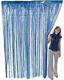 neon blue streamer - Blue Foil Fringe Curtain –2 Pack 3' X 8' (36
