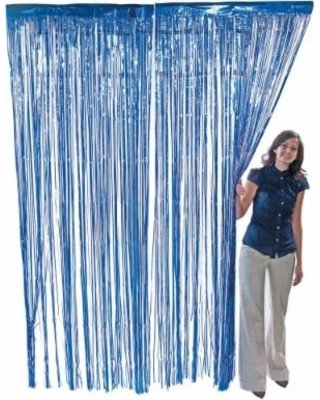 1 PACK 3′ x 8′ Blue Foil Fringed – For Door, Window, Curtain, Wall Decoration, Party Accessory, Parties, Special Events, & Backdrop – Kidsco