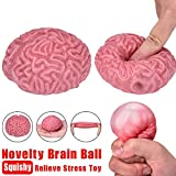 BrawljRORty Toys, Mini Fashion Brain Shape Squeeze Slow Rising Kids Adult Relieve Stress Toy Gift
