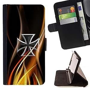 For Samsung Galaxy S6,S-type Resumen de la cruz céltica- Dibujo PU billetera de cuero Funda Case Caso de la piel de la bolsa protectora