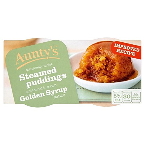 Aunty's Golden Syrup Steamed Puddings (2x110g) - Pack of 6