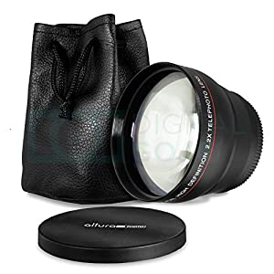 52MM 2.2x Altura Professional Telephoto Lens for Nikon D5300 D5200 D5100 D3300 D3200 D3100 D3000 DSLR Cameras DSLR Cameras + MagicFiber Microfiber Lens Cleaning Cloth