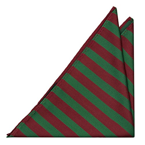 and Stripes Notch Square Pocket Men's in Silk red green 4wqZ7w0x