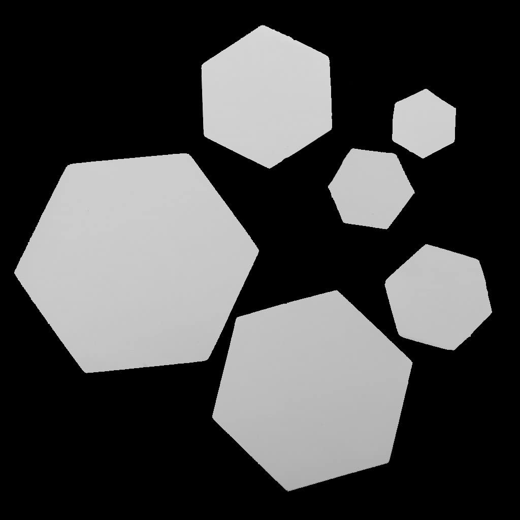 Wei/ß Sharplace 100pcs Hexagon Englisch Papier Steppvorlagen Schablonen Size Auswahl 16mm