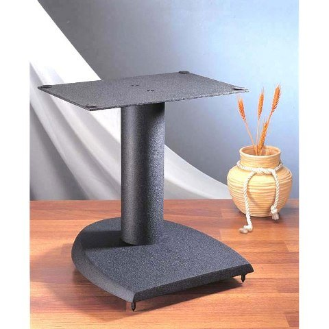 VTI Manufacturing DFC 13 in. H44; Iron Center Channel Speaker Stand - Black by VTI Manufacturing