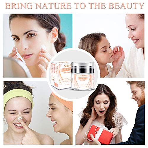 51dIqKNM18L - Face Moisturizer Anti-Wrinkle Retinol Cream Treatment with Combination of Green Tea, Vitamin E and Organic Aloe,Day and Night Anti Aging Eye Cream for Face and Eye 1.7 fl oz