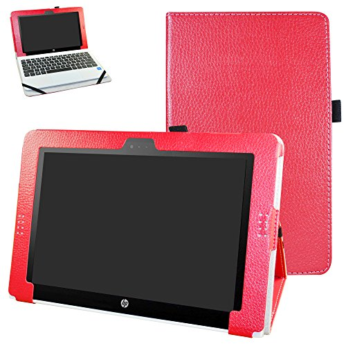 "HP Pavilion x2 10 / HP x2 210 G1 Case,Mama Mouth PU Leather Folio Stand Cover for 10.1"" HP Pavilion X2 10-n113dx n114dx n123dx n124dx n013dx / HP x2 210 G1 Detachable 2-in-1 Laptop/Tablet,Red -  Bigmouthstore, 5759534"