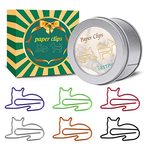 Cat Paper Clips - Cat Gifts for Cat Lovers - Great Birthday Gift for Teachers, Students, Kids, Coworkers - Cute Cat Office Supplies - Desk