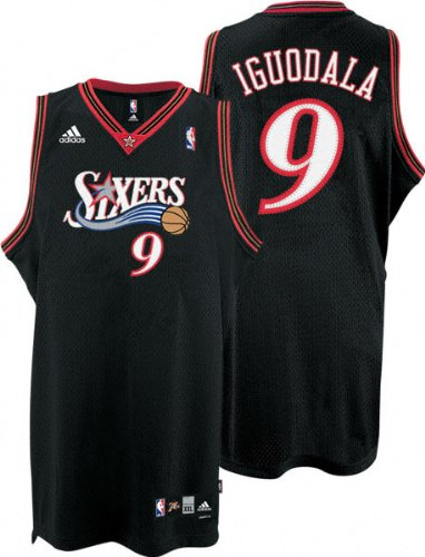 Andre Iguodala Jersey  adidas Black Swingman  9 Philadelphia 76ers Jersey ed06c06ad