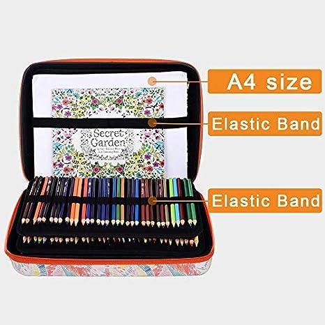 marqueurs Grand /étui /à crayons CAS SEULEMENT Stylos gel Convient pour Zenacolor 120//72 crayons de couleur Wanshui 168 Crayons de couleu Contient plus de 240 crayons de couleur